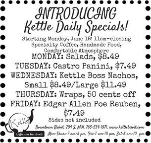 kettle daily specials